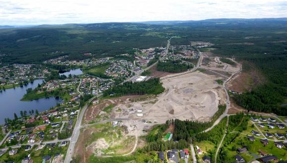 Dronebilde over Ydalir juni 2016
