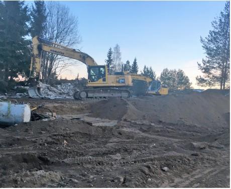 Hjeratunet - Fijo Anlegg i gang med gravearbeidende