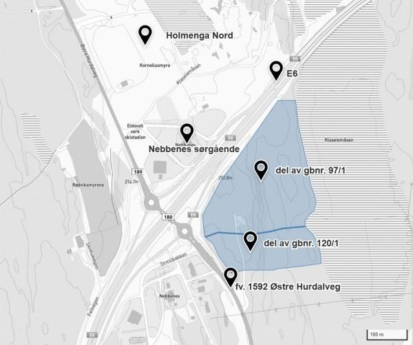 utsnitt planomriss fra kommunekart