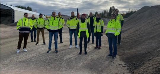 Besøk av asfaltentreprenør