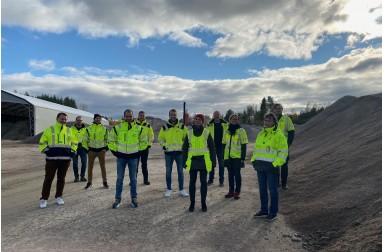 Befaring på Peab sitt asfaltverk i Elverum